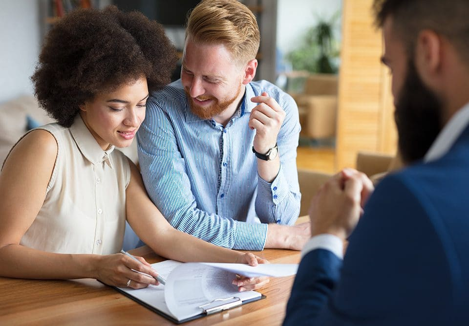 couple talking about a longer term mortgage